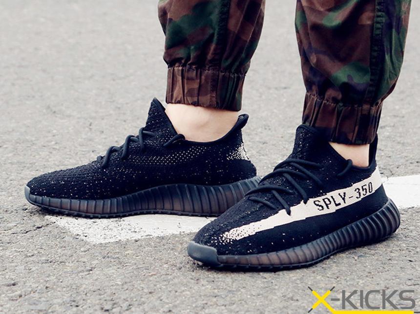 adidas yeezy 椰子 350v2 黑白 特价